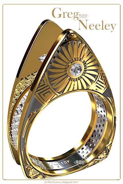 Greg Neeley Hopi Pottery Ladies Diamond Ring #jewelry #brilliantluxury