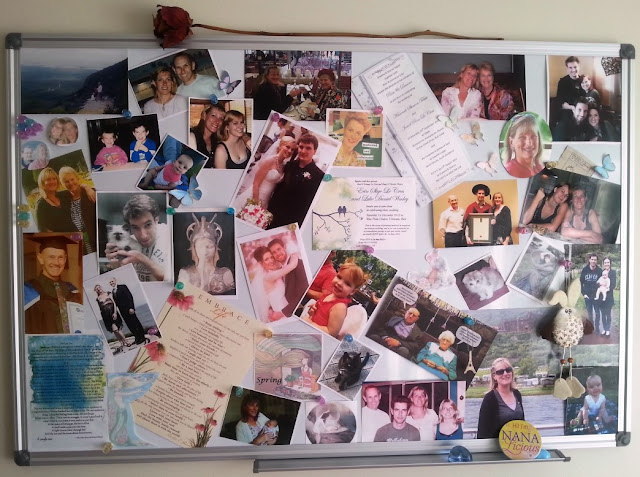 A Memory Board is somewhere to collect snapshots of life's events and little mementoes you've collected along the way