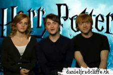Dan, Emma and Rupert advertise Harry Potter and the Half-Blood Prince