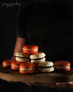 macarons de merengue francés en Thermomix