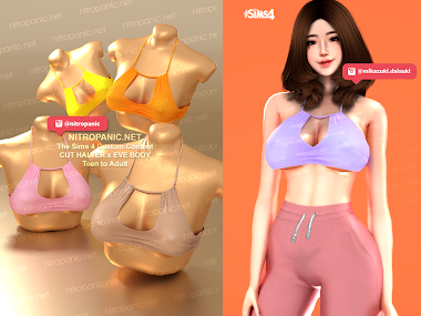 HALTER CUT for The Sims 4