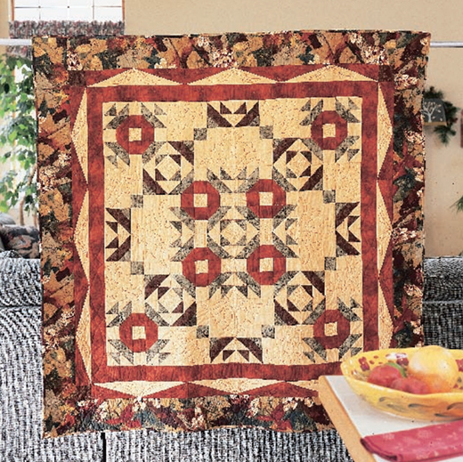 Autumn Crown Quilt Free Pattern designed by Lerlene Nevaril for Quilting Company, Machine Quilted by Jan Korytkowski