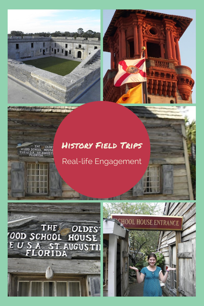 Field trips offer a real-life aspect to studying history.