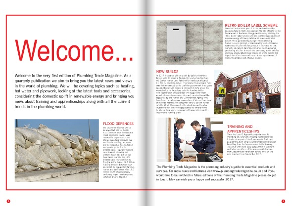 Things I Learnt In January - Plumbing Trade Magazine - Issue 1 - lead editorial