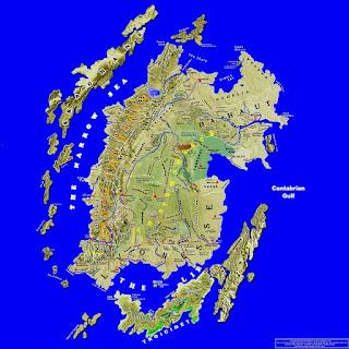 Lyonesse, Az Elder szigetek térképe