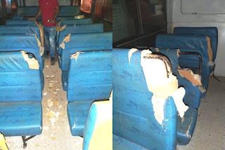 Vandalismo em ônibus