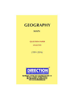 Geography Optional UPSC Mains Exam - Previous year Topicwise Question Paper Download PDF