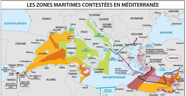 """Χάρτης του γαλλικού Ναυτικού """"γκριζάρει"""" υπέρ της Τουρκίας, το μισό Αιγαίο"""