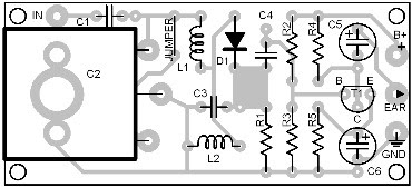 Parts Placement Layout Diode AM Receiver