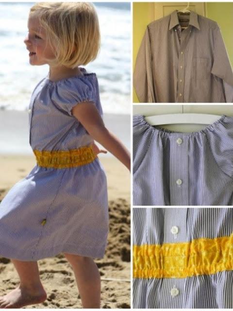Lihat Kemeja Ayah Yang Sudah Tidak Terpakai? Coba Rubah Menjadi 10 Model Dress Anak Yang Cantik