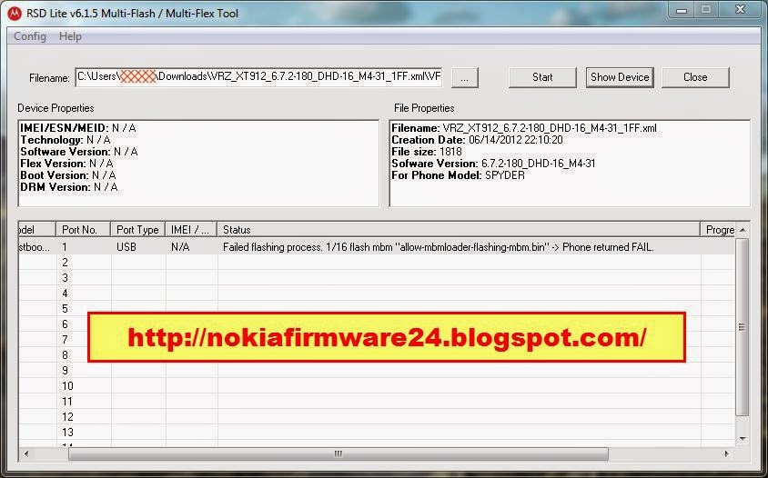 How to flash motorola phone with official rsd lite tool in.