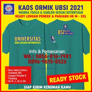 Kaos Ormik BSI 2021 Hijau Tosca Lengan Panjang