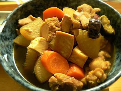 鶏の根菜煮完成