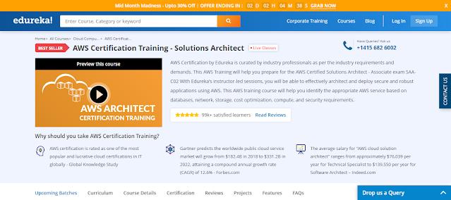 Edureka,Best courses,Bestseller,AWS Certification,