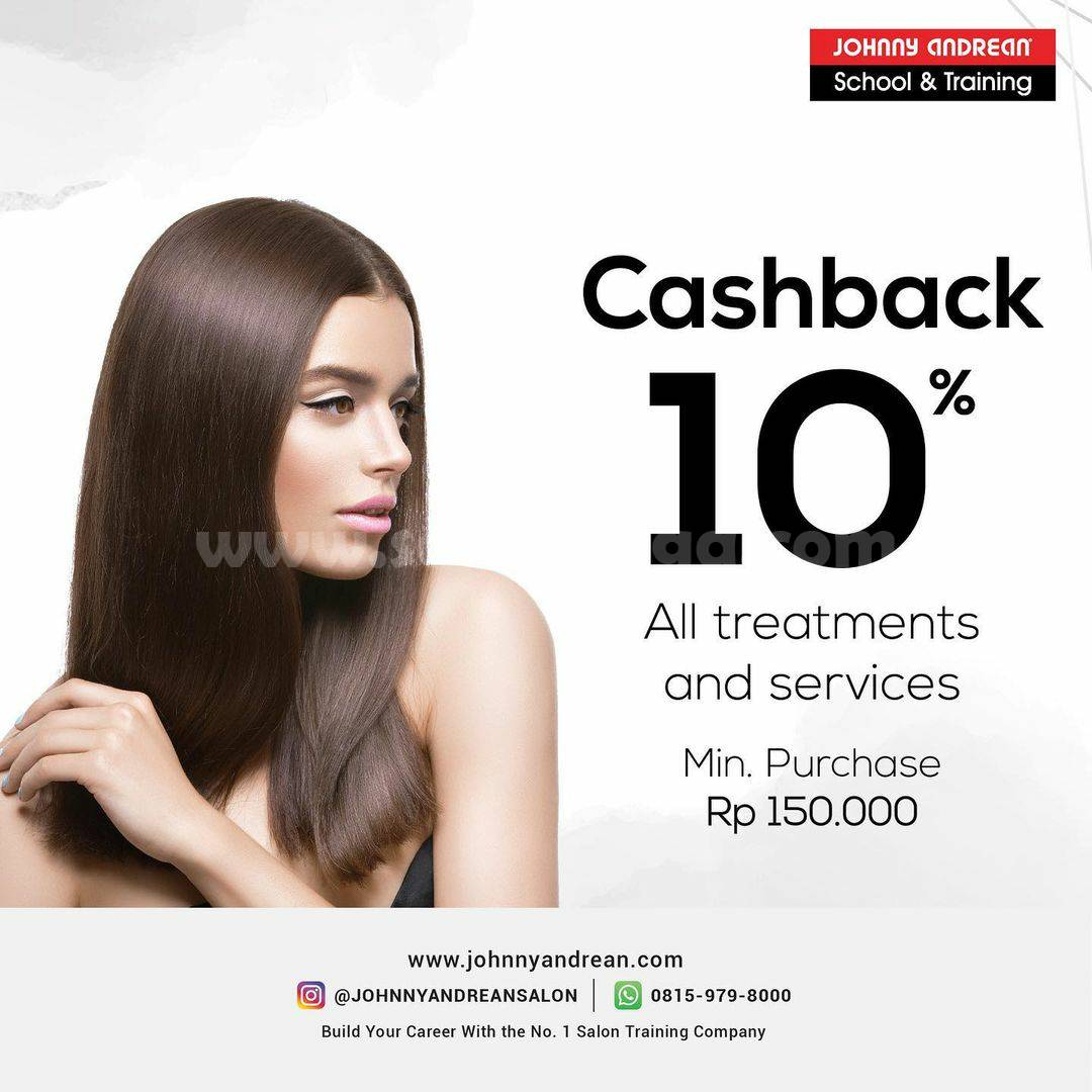 Johnny Andrean Promo Discount 10% All Treatments & Services hingga 31 Desember 2020