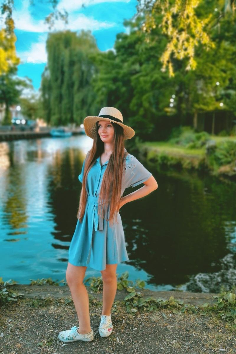 Rzeka w Norfolk - lato w Anglii