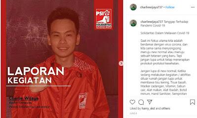 Mengenal Charlie Wijaya, Pelapor Bintang Emon yang Ngaku Sebagai Kader Termuda PSI