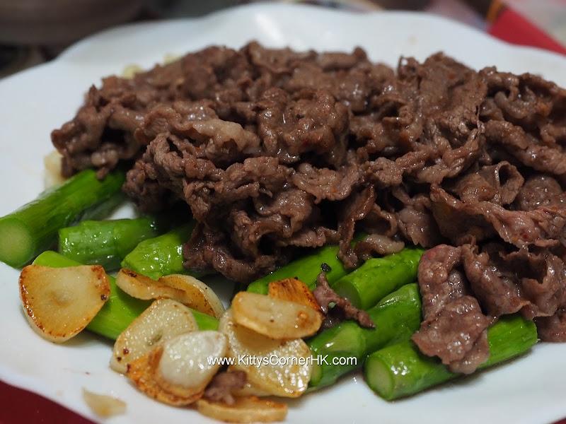 Asparagus with beef in Garlic recipe 香蒜蘆筍肥牛自家食譜