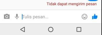 Tidak dapat mengirim pesan