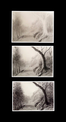 Steps involved in creating a forest scene from Mhableshwar by Manju Panchal