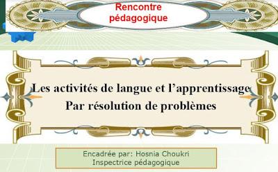 les activités de langue et l'apprentissage par résolution de problèmes