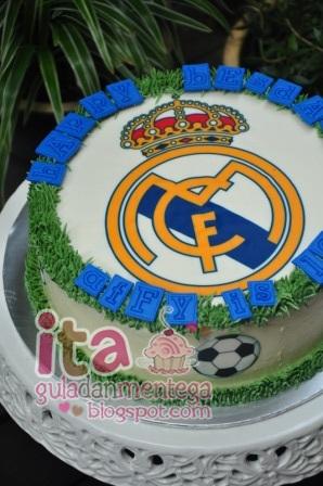Gula Dan Mentega Birthday Cake Real Madrid
