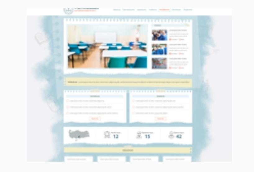 Yeni meb okul site teması meşe