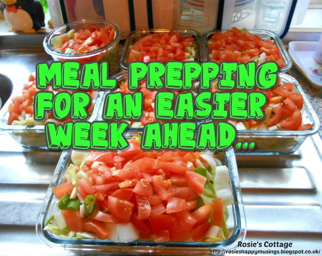 Meal prepping for an easier week ahead...