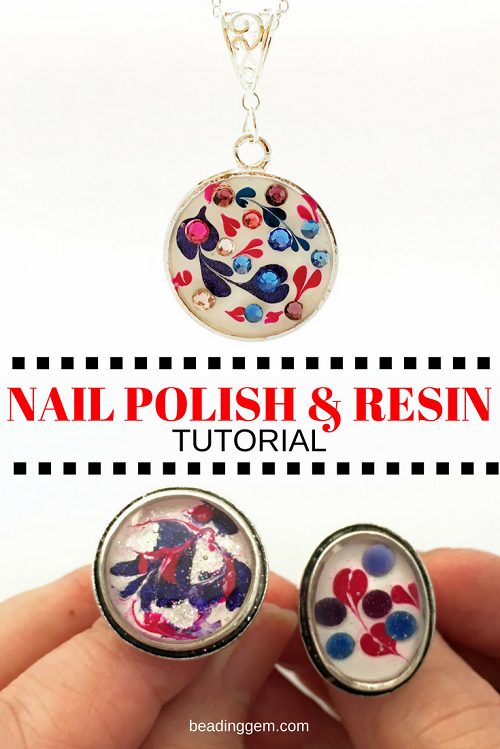 Easy nail polish and resin jewelry tutorial hearts feature for easy nail polish and resin jewelry tutorial hearts feature for mothers day the beading gems journal aloadofball Gallery