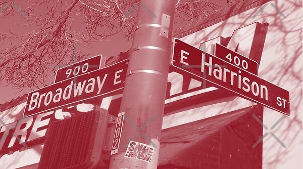 Broadway & Harrison Street, Capitol Hill, Seattle, Washington by Mistah Wilson
