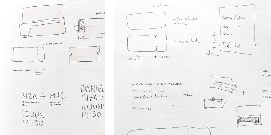 wedding-invitaiton-travel-ticket-turquoise-copper-foil-stamp-Gen-Design-Studio-sketch