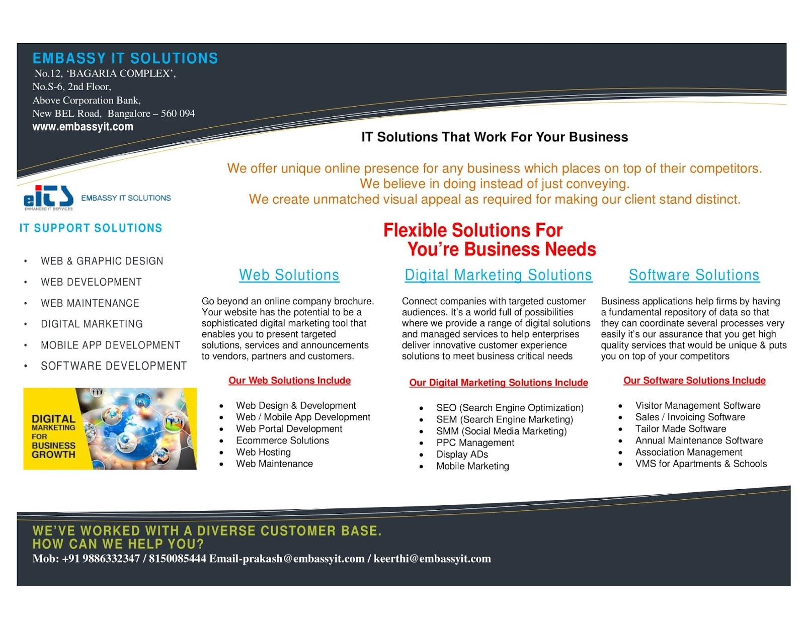 Digital Marketing Broucher EITS
