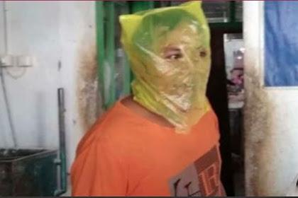 Tak Bermasker Saat di Razia, Pria Ini Jadikan Plastik Untuk Masker
