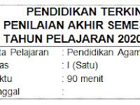 Soal UAS/PAS PAI Kelas 1 SD/MI Semester 2 dan Kunci Jawaban Kurikulum 2013