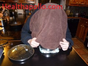 Steaming to cough relief