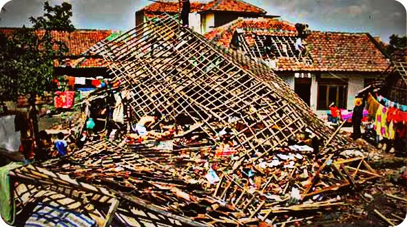 32 Rumah di Kota Binjai Rusak Akibat Puting Beliung