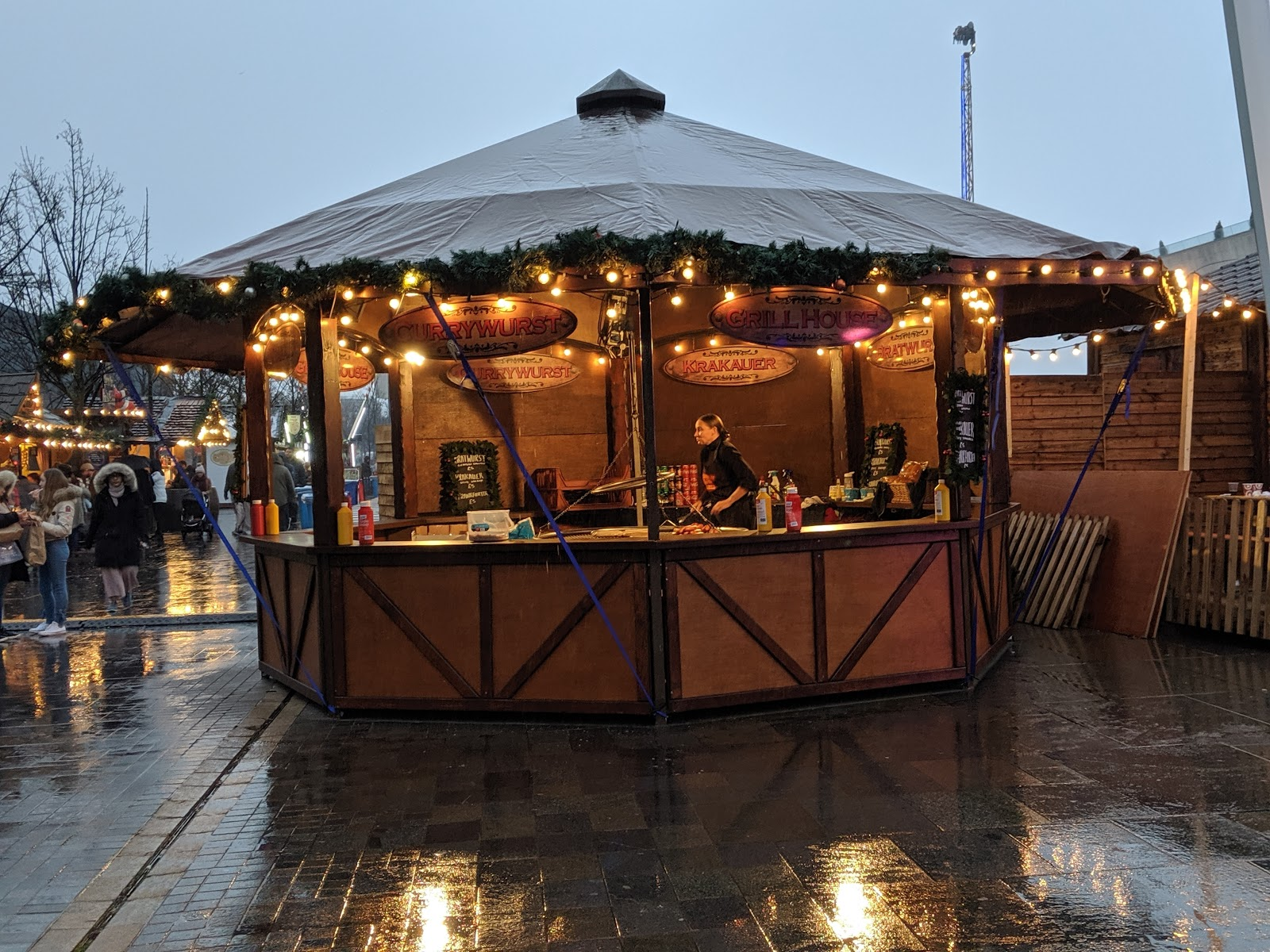A Guide to Visiting Liverpool Christmas Markets & Lights  - Liverpool Ice Festival  Sausage Stalls