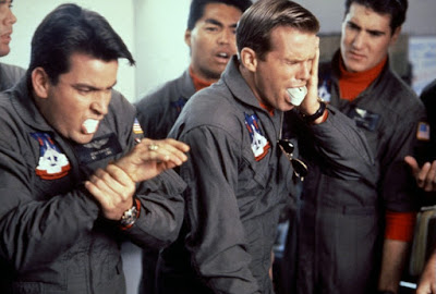 Hot Shots 1991 movie still Charlie Sheen Cary Elwes