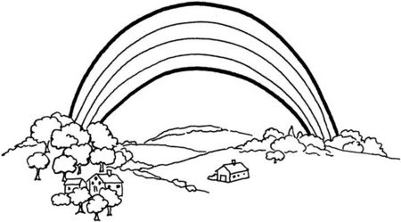 rainbow coloring pages 10 rows - photo#37