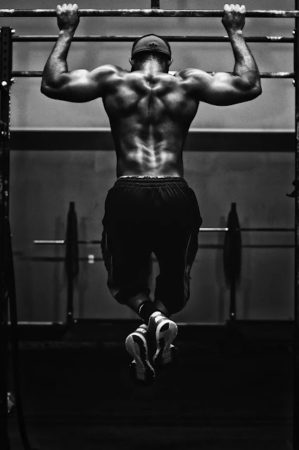 back workout with dumbbell
