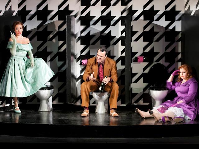 Rossini: La Cenerentola - Carolina Lippo, Simone Alberghini, Maria Ostroukhova - The Grange Festival (Photo Simon Anand)