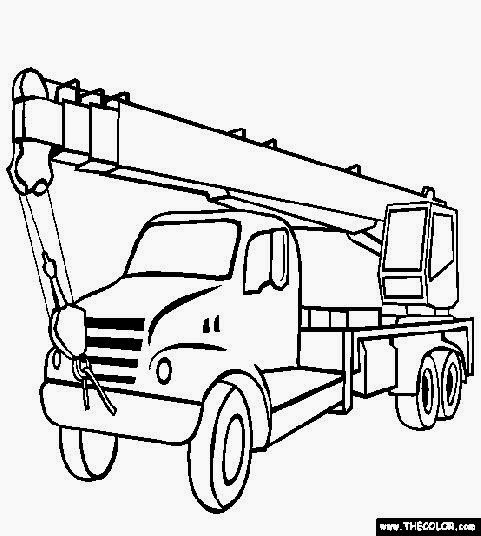 Truck Pictures To Color