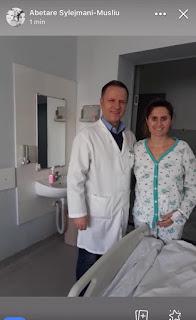 Pacientja falenderon pa masë Kirurgun Naser Plakollin dhe ekipën kujdestare