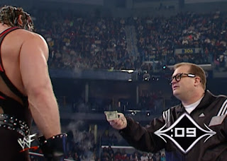 WWE / WWF Royal Rumble 2001 - Drew Carey tries to buy his way out of fighting Kane in the Royal Rumble match