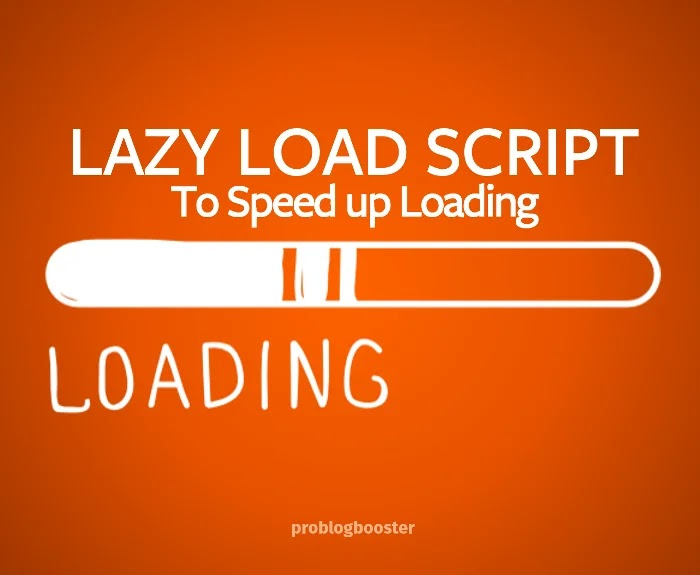 Add Lazy Load Script To Blog Website
