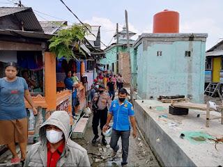 Redam Aksi Tawuran,l Polres Belawan Gelar Razia di Kawasan Pemukiman Warga