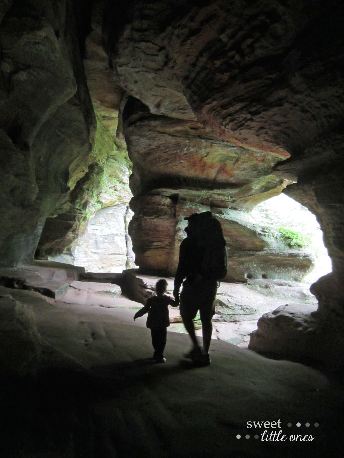 Hocking Hills Ohio - Rock House  www.sweetlittleonesblog.com