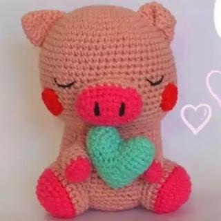Amigurumi Cerdito a Crochet