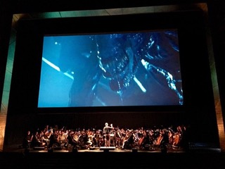Terry Davies conducting for the film Aliens