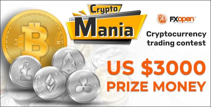 مسابقة العملات المشفره بجوائز 3000 دولار مجانا مع FXOpen